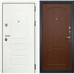 Входная стальная дверь Лекс Легион 3К Шагрень белая / Береза мореная (панель №11)