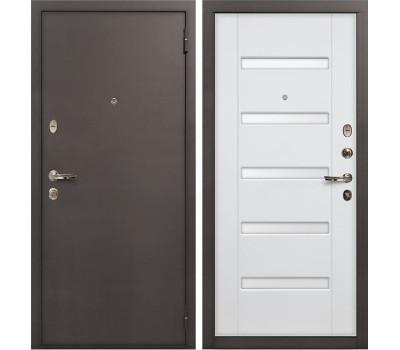 Входная стальная дверь Лекс 1А Ясень белый (панель №34)