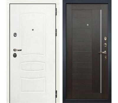 Входная металлическая дверь Лекс Сенатор 3К Шагрень белая / Верджиния Венге (панель №39)