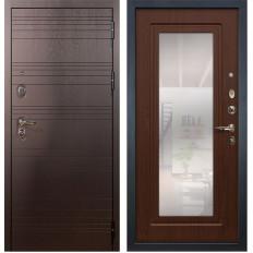 Входная дверь Лекс Легион с Зеркалом Береза мореная (панель №30)