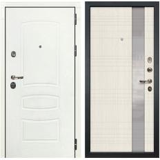 Входная дверь Лекс Сенатор 3К Шагрень белая / Новита Дуб беленый (панель №52)