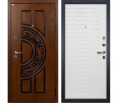 Входная стальная дверь Лекс Спартак Cisa Ясень белый (панель №36)