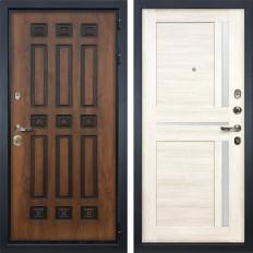 Входная дверь Лекс Гладиатор 3К Винорит Баджио Дуб беленый (панель №47)