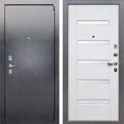 Входная стальная дверь Лекс 3 Барк (Серый букле / Ясень белый) панель №34