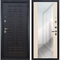 Входная дверь Лекс Гладиатор 3К Стиль с Зеркалом Дуб беленый (панель №45)