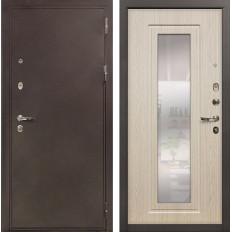 Входная дверь Лекс 5А Цезарь с Зеркалом Дуб беленый (панель №23)
