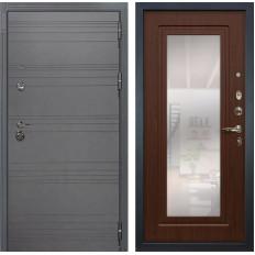 Входная дверь Лекс Сенатор 3К Софт графит / Береза мореная с Зеркалом (панель №30)