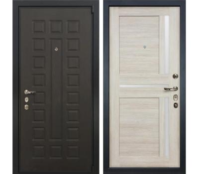 Входная стальная дверь Лекс 4А Неаполь Mottura Баджио Ясень кремовый (панель №49)