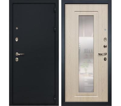 Входная стальная дверь Лекс 2 Рим с Зеркалом Дуб беленый (панель №23)