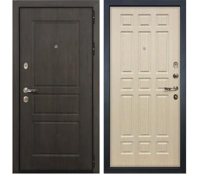 Входная стальная дверь Лекс Сенатор Винорит Дуб беленый (панель №28)