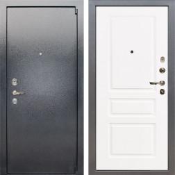 Входная стальная дверь Лекс 3 Барк (Серый букле / Софт белый снег) панель №94