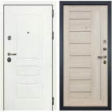 Входная дверь Лекс Сенатор 3К Шагрень белая / Верджиния Ясень кремовый (панель №40)