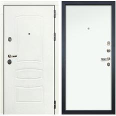 Входная дверь Лекс Сенатор 3К Шагрень белая / Белая (панель №59)