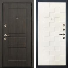 Входная дверь Лекс Сенатор Винорит Белая шагрень Квадро (панель №71)