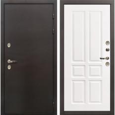 Входная дверь с терморазрывом Лекс Термо Сибирь 3К Софт белый снег (панель №87)