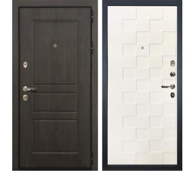 Входная стальная дверь Лекс Сенатор Винорит Белая шагрень Квадро (панель №71)