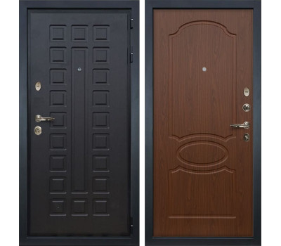 Входная металлическая дверь Лекс Гладиатор 3К Береза мореная (панель №12)