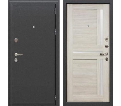 Входная стальная дверь Лекс Колизей Баджио Ясень кремовый (панель №49)