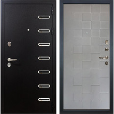 Входная дверь Лекс Витязь Графит софт Квадро (панель №72)