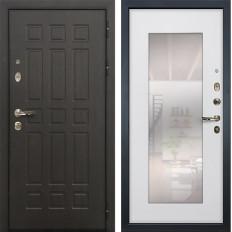 Входная дверь Лекс Сенатор 8 с Зеркалом Ясень белый (панель №37)