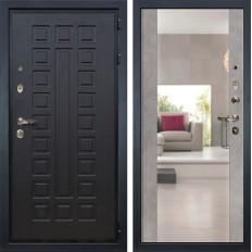 Входная дверь Лекс Гладиатор 3К Стиль с Зеркалом Бетон серый (панель №102)