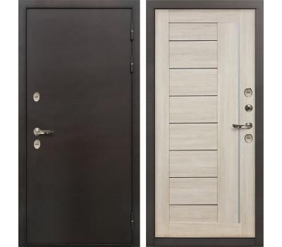 Входная уличная дверь с терморазрывом Лекс Термо Сибирь 3К Верджиния Ясень кремовый (панель №40)
