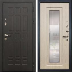 Входная дверь Лекс Сенатор 8 с Зеркалом Дуб беленый (панель №23)