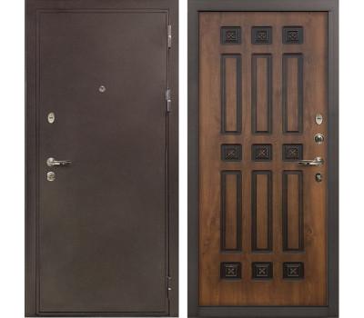 Входная стальная дверь Лекс 5А Цезарь Винорит Голден патина черная (панель №33)