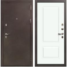 Входная дверь Лекс 5А Цезарь Вероника-1 Шпон Эмаль Белая (панель №55)