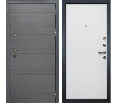 Входная металлическая дверь Лекс Сенатор 3К Софт графит / Ясень белый (панель №62)