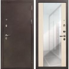 Входная дверь Лекс 5А Цезарь Стиль с Зеркалом Дуб беленый (панель №45)