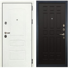 Входная дверь Лекс Сенатор 3К Шагрень белая / Венге (панель №29)