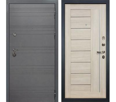 Входная металлическая дверь Лекс Сенатор 3К Софт графит / Верджиния Ясень кремовый (панель №40)