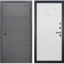 Входная металлическая дверь Лекс Сенатор 3К Софт графит / Ясень белый (панель №36)