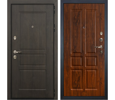 Входная стальная дверь Лекс Сенатор Винорит Винорит дуб тёмный (панель №91)