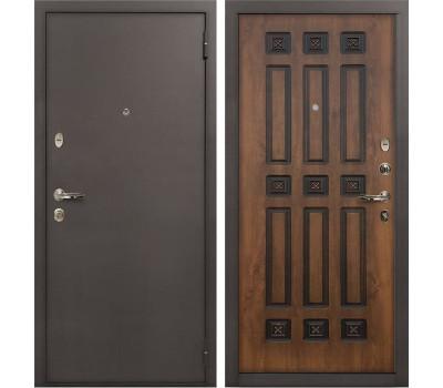 Входная стальная дверь Лекс 1А Винорит Голден патина черная (панель №33)