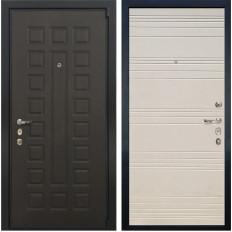 Входная дверь Лекс 4А Неаполь Mottura Дуб фактурный кремовый (панель №63)
