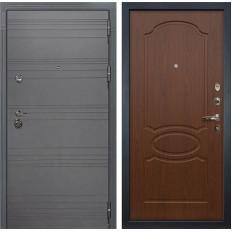 Входная дверь Лекс Сенатор 3К Софт графит / Береза мореная (панель №12)