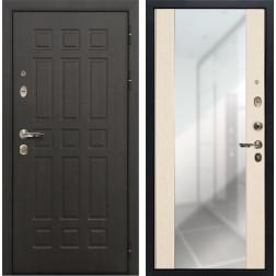 Входная металлическая дверь Лекс Сенатор 8 Стиль с Зеркалом Дуб беленый (панель №45)