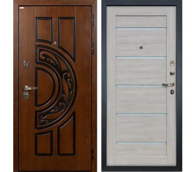 Входная стальная дверь Лекс Спартак Cisa Клеопатра-2 Ясень кремовый (панель №66)