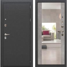 Входная дверь Лекс Колизей с Зеркалом Бетон серый (панель №102)