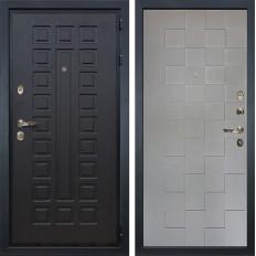 Входная дверь Лекс Гладиатор 3К Графит софт Квадро (панель №72)
