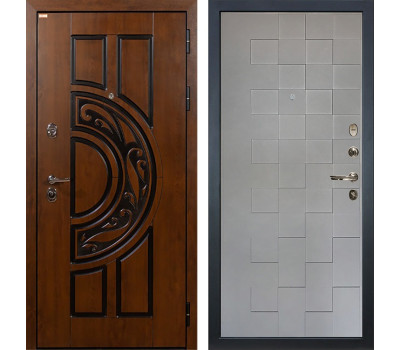 Входная стальная дверь Лекс Спартак Cisa Графит софт Квадро (панель №72)