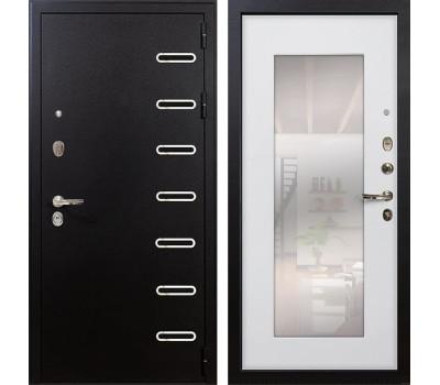Входная металлическая дверь Лекс Витязь с Зеркалом Ясень белый (панель №37)