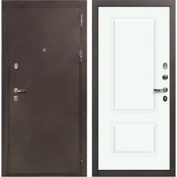 Входная стальная дверь Лекс 5А Цезарь Вероника-1 Шпон Эмаль Белая (панель №55)