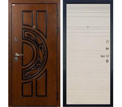 Входная стальная дверь Лекс Спартак Cisa Дуб фактурный кремовый (панель №63)