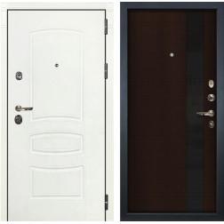 Входная металлическая дверь Лекс Сенатор 3К Шагрень белая / Новита Венге (панель №53)