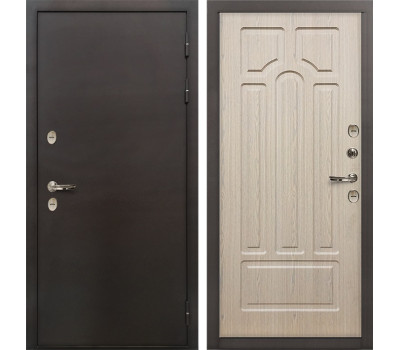 Входная уличная дверь с терморазрывом Лекс Термо Сибирь 3К Дуб беленый (панель №25)