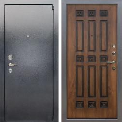 Входная стальная дверь Лекс 3 Барк (Серый букле / Голден патина черная) панель №33