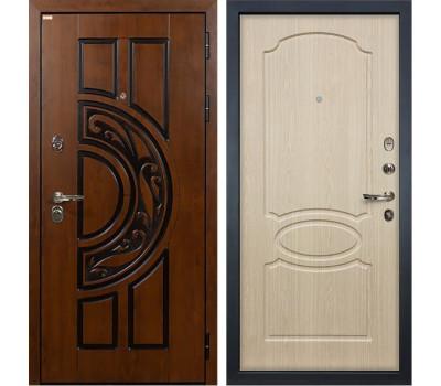 Входная стальная дверь Лекс Спартак Cisa Дуб беленый (панель №14)